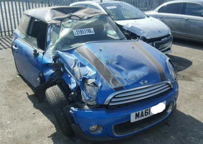 BMW MINI 2011 R56 LCI COOPER 1.6 6 SPEED MANUAL LASER BLUE BREAKING FOR PARTS