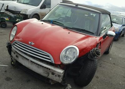 BMW MINI 2008 ONE R52 CONVERTIBLE 1.6 PETROL CHILI RED BREAKING FOR PARTS. REFERENCE CAR NO. 1007