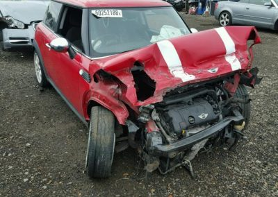BMW MINI 2007 COOPER 6 SPEED MANUAL CHILI RED BREAKING FOR PARTS