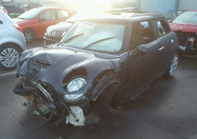 BMW MINI 2007 COOPER S PETROL 1.6 6 SPEED MANUAL ASTRO BLACK METALLIC BREAKING FOR PARTS