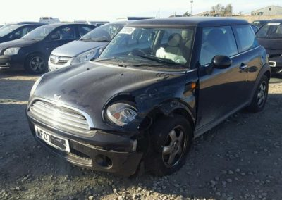 BMW MINI 2007 COOPER PETROL 1.6 6 SPEED MANUAL ASTRO BLACK METALLIC BREAKING FOR PARTS