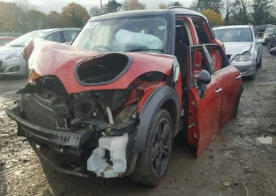 BMW MINI 2015 R60 COUNTRYMAN COOPER D DIESEL 1.6 6 SPEED MANUAL BLAZE RED BREAKING FOR PARTS
