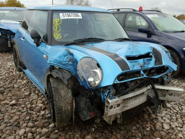 BMW MINI 2004 R53 COOPER S PETROL 1.6 6 SPEED MANUAL ELECTRIC BLUE BREAKING FOR PARTS