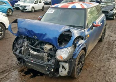 BMW MINI 2012 R56 COOPER D DIESEL 1.6 6 SPEED MANUAL LIGHTNING BLUE METALLIC BREAKING FOR PARTS