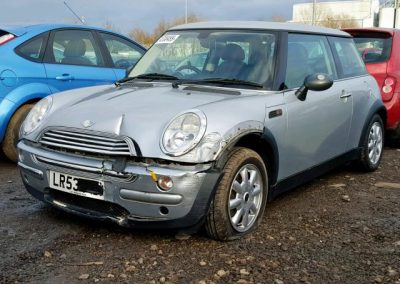 BMW MINI 2003 R50 ONE 1.6 AUTOMATIC PURE SILVER BREAKING FOR PARTS