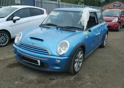 BMW MINI 2003 R53 COOPER S 1.6 6 SPEED MANUAL ELECTRIC BLUE BREAKING FOR PARTS
