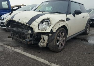 BMW MINI 2008 R56 COOPER D DIESEL 1.6 6 SPEED MANUAL PEPPER WHITE BREAKING FOR PARTS
