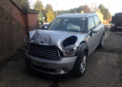 BMW MINI 2011 R60 COUNTRYMAN COOPER D DIESEL 1.6 6 SPEED MANUAL CRYSTAL SILVER METALLIC BREAKING FOR PARTS. REFERENCE CAR NO. 1116