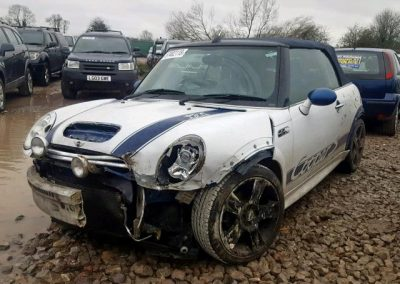 BMW MINI 2006 R52 COOPER S 1.6 6 SPEED MANUAL IN WHITE BREAKING FOR PARTS