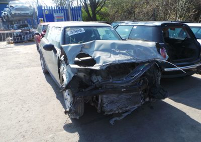 BMW MINI 2007 R56 ONE 1.4 6 SPEED MANUAL SPARKLING SILVER METALLIC BREAKING FOR PARTS