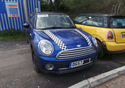 BMW MINI 2007 R56 COOPER D DIESEL 1.6 6 SPEED MANUAL LIGHTNING BLUE METALLIC BREAKING FOR PARTS