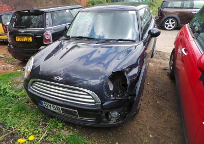 BMW MINI 2008 R56 ONE 1.4 6 SPEED MANUAL ASTRO BLACK METALLIC BREAKING FOR PARTS