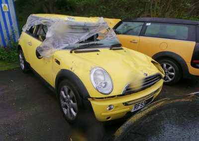 BMW MINI 2005 R50 ONE D DIESEL 1.4 6 SPEED MANUAL LIQUID YELLOW BREAKING FOR PARTS. REFERENCE CAR NO. 1191
