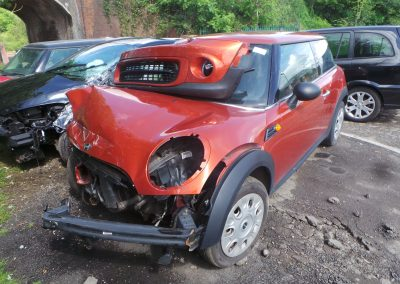 BMW MINI 2012 R56 LCI ONE 1.6 6 SPEED MANUAL SPICE ORANGE METALLIC BREAKING FOR PARTS
