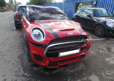 BMW MINI 2018 F56 JCW JOHN COOPER WORKS 2.0 6 SPEED MANUAL CHILI RED BREAKING FOR PARTS. REFERENCE CAR NO. 1203