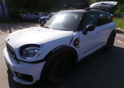 BMW MINI 2019 F60 COOPER S E COUNTRYMAN HYBRID 1.5 AUTOMATIC LIGHT WHITE BREAKING FOR PARTS. REFERENCE CAR NO. 1254