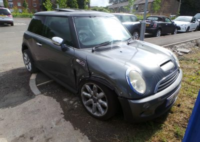 BMW MINI 2003 R53 COOPER S 1.6 6 SPEED MANUAL DARK SILVER METALLIC BREAKING FOR PARTS