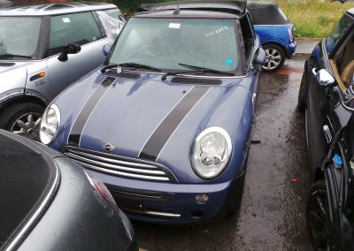 BMW MINI 2004 R52 ONE CONVERTIBLE 1.6 5 SPEED MANUAL COOL BLUE METALLIC BREAKING FOR PARTS. REFERENCE CAR NO. 1275