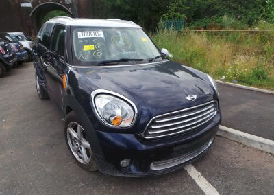 BMW MINI 2011 R60 COUNTRYMAN COOPER D DIESEL 1.6 6 SPEED MANUAL COSMIC BLUE METALLIC BREAKING FOR PARTS. REFERENCE CAR NO. 1320
