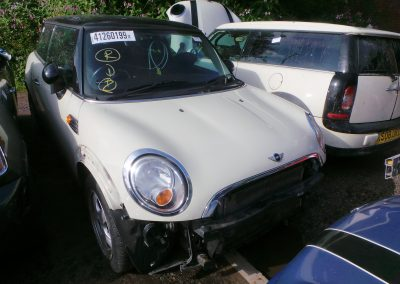 BMW MINI 2007 R56 COOPER 1.6 6 SPEED MANUAL PEPPER WHITE BREAKING FOR PARTS. REFERENCE CAR NO 1350