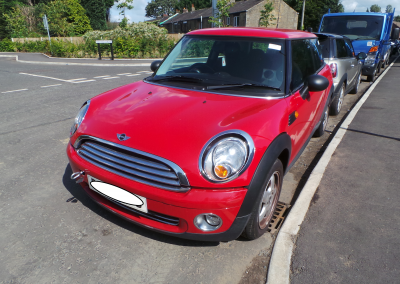 BMW MINI 2009 R56 ONE 1.4 6 SPEED MANUAL CHILI RED BREAKING FOR PARTS. REFERENCE CAR NO. 1349