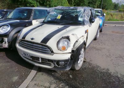 BMW MINI 2008 R56 COOPER 1.6 6 SPEED AUTOMATIC PEPPER WHITE BREAKING FOR PARTS. REFERENCE CAR NO. 1337