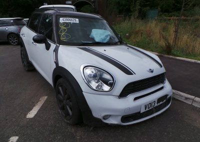 BMW MINI 2013 R60 COUNTRYMAN COOPER SD DIESEL 2.0 6 SPEED MANUAL LIGHT WHITE BREAKING FOR PARTS. REFERENCE CAR NO. 1341
