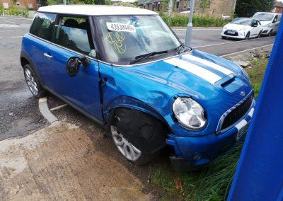 BMW MINI 2008 R56 COOPER S 1.6 6 SPEED MANUAL LASER BLUE METALLIC BREAKING FOR PARTS. REFERENCE CAR NO. 1348