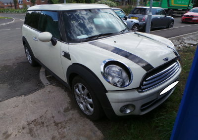 BMW MINI 2008 R55 COOPER D DIESEL 1.6 6 SPEED MANUAL PEPPER WHITE BREAKING FOR PARTS. REFERENCE CAR NO. 1336