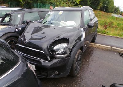 BMW MINI 2011 R60 COUNTRYMAN COOPER S 1.6 6 SPEED MANUAL ABSOLUTE BLACK METALLIC BREAKING FOR PARTS. REFERENCE CAR NO. 1362.