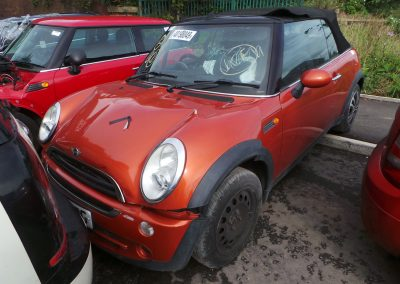 BMW MINI 2006 R52 ONE 1.6 6 SPEED MANUAL HOT ORANGE METALLIC BREAKING FOR PARTS REFERENCE CAR NO. 1354