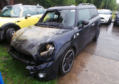 BMW MINI 2011 R55 CLUBMAN **HAMPTON EDITION** COOPER D DIESEL 1.6 6 SPEED MANUAL REEF BLUE METALLIC BREAKING FOR PARTS. REFERENCE CAR NO. 1359