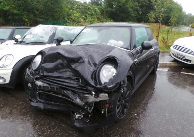 BMW MINI 2014 F56 COOPER D DIESEL 1.5 6 SPEED MANUAL MIDNIGHT BLACK METALLIC BREAKING FOR PARTS. REFERENCE CAR NO. 1360