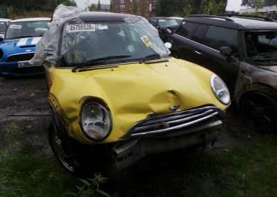 BMW MINI 2005 R50 ONE 1.6 6 SPEED AUTOMATIC LIQUID YELLOW BREAKING FOR PARTS. REFERENCE CAR NO. 1358