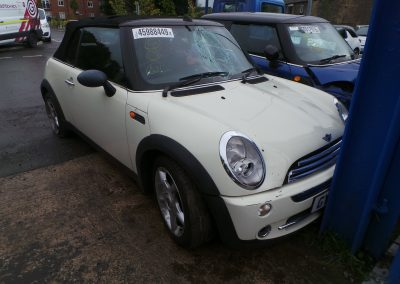 BMW MINI 2006 R52 ONE CONVERTIBLE 1.6 5 SPEED MANUAL PEPPER WHITE BREAKING FOR PARTS. REFERENCE CAR NO. 1378
