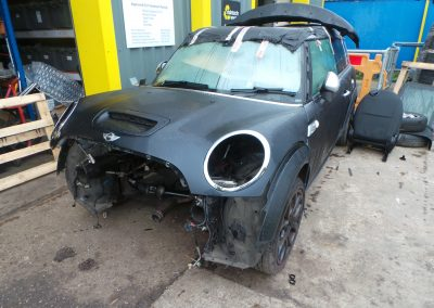 BMW MINI 2008 R55 COOPER S CLUBMAN 1.6 6 SPEED SEMI AUTOMATIC ASTRO BLACK METALLIC BREAKING FOR PARTS. REFERENCE CAR NO. 1310