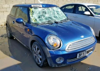 BMW MINI 2007 R56 ONE 1.4 6 SPEED MANUAL LIGHTNING BLUE METALLIC BREAKING FOR PARTS. REFERENCE CAR NO. 1387