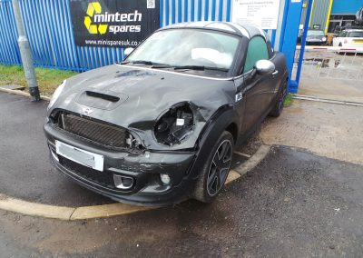 BMW MINI 2013 R58 COUPE COOPER SD DIESEL 2.0 6 SPEED MANUAL ECLIPSE GREY METALLIC BREAKING FOR PARTS. REFERENCE CAR NO. 1384