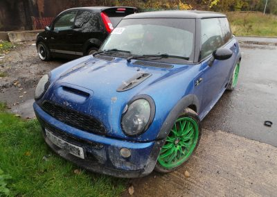 BMW MINI 2005 R53 COOPER S 1.6 6 SPEED MANUAL HYPER BLUE METALLIC BREAKING FOR PARTS. REFERENCE CAR NO. 1420