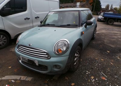 BMW MINI 2011 R56 LCI ONE D DIESEL 1.6 6 SPEED MANUAL ICE BLUE BREAKING FOR PARTS. REFERENCE CAR NO. 1421