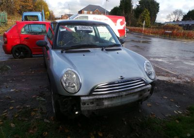 BMW MINI 2004 R50 ONE 1.6 AUTOMATIC PURE SILVER BREAKING FOR PARTS. REFERENCE CAR NO. 1431