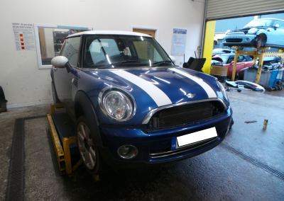 BMW MINI 2008 R56 COOPER 1.6 6 SPEED MANUAL LIGHTNING BLUE METALLIC FOR PARTS. REFERENCE CAR NO. 1246.