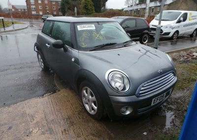 BMW MINI 2009 R56 ONE GRAPHITE EDITION 1.4 6 SPEED MANUAL DARK SILVER METALLIC FOR PARTS. REFERENCE CAR NO. 1452