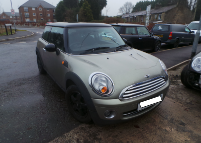 BMW MINI 2007 R56 COOPER 1.6 6 SPEED MANUAL SPARKLING SILVER METALLIC FOR PARTS. REFERENCE CAR NO. 1456.