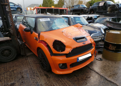 BMW MINI 2013 R56 LCI COOPER S 1.6 6 SPEED MANUAL ORANGE METALLIC FOR PARTS. REFERENCE CAR NO. 1459.