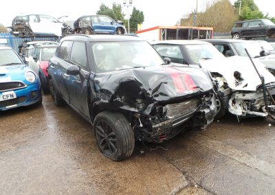 BMW MINI 2016 R60 COUNTRYMAN COOPER SD DIESEL 2.0 AUTOMATIC ABSOLUTE BLACK METALLIC FOR PARTS. REFERENCE CAR NO. 1461.