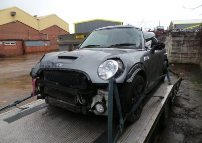 BMW MINI 2007 R56 COOPER S 1.6 6 SPEED MANUAL DARK SILVER METALLIC BREAKING FOR PARTS.