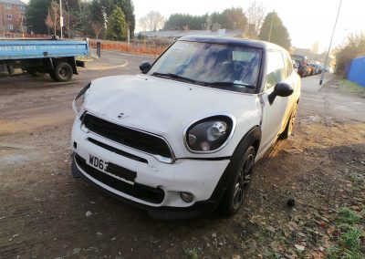 BMW MINI 2013 R61 PACEMAN COOPER SD 2.0 6 SPEED MANUAL LIGHT WHITE BREAKING FOR PARTS. REFERENCE CAR NO. 1450.