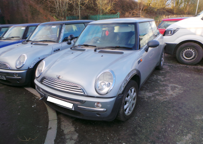 BMW MINI 2003 R50 ONE 1.6 5 SPEED MANUAL PURE SILVER FOR PARTS. REFERENCE CAR NO. 1476.