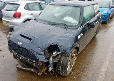 BMW MINI 2007 R56 COOPER S 1.6 6 SPEED MANUAL ASTRO BLACK METALLIC FOR PARTS. REFERENCE CAR NO. 1469.